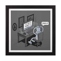 Robot Problems - black-square-framed-print - small view