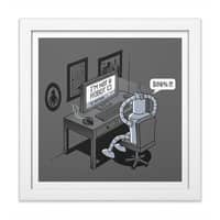 Robot Problems - white-square-framed-print - small view
