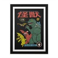 Kaiju Sentai - black-vertical-framed-print - small view