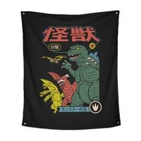Kaiju Sentai - indoor-wall-tapestry-vertical - small view