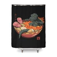 Spicy Lava Ramen King - shower-curtain - small view