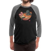 Spicy Lava Ramen King - triblend-34-sleeve-raglan-tee - small view