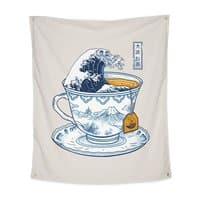 The Great Kanagawa Tee - indoor-wall-tapestry-vertical - small view
