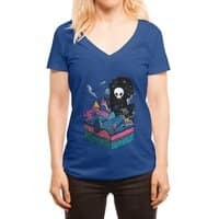 The Visitor - womens-deep-v-neck - small view