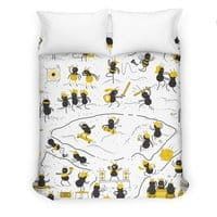 Crazy Ants - duvet-cover - small view