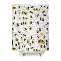 Crazy Ants - shower-curtain - small view