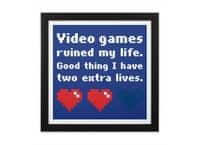 Video Games Ruined My Life - black-square-framed-print - small view