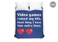 Video Games Ruined My Life - duvet-cover - small view