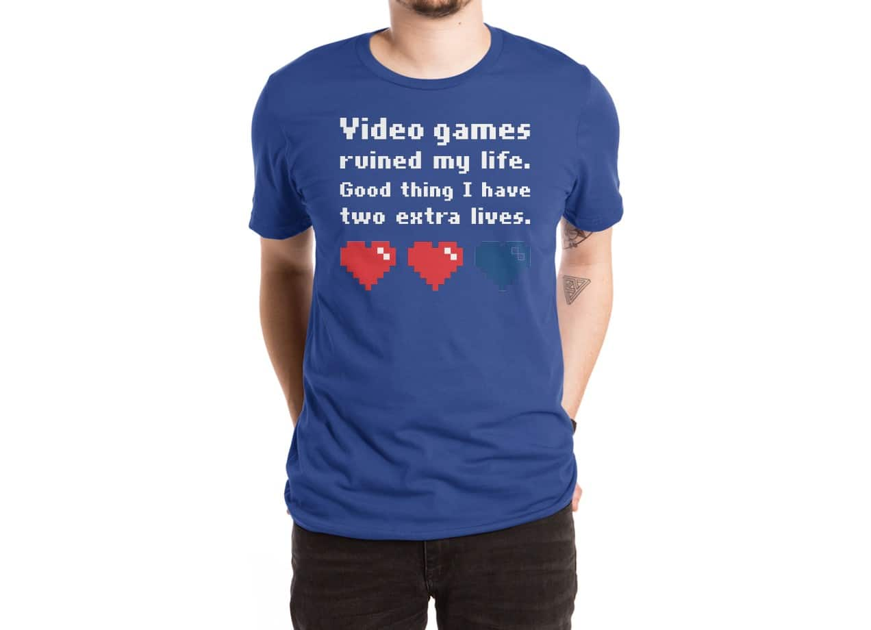 Video Games Ruined My Life By Lawrence Pernica Mens Extra Soft Tee