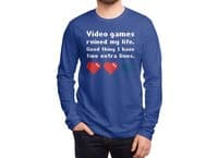 Video Games Ruined My Life - mens-long-sleeve-tee - small view