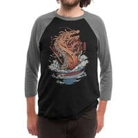 Ramen Dragon - triblend-34-sleeve-raglan-tee - small view