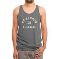 No Person Is Illegal - mens-triblend-tank - small view