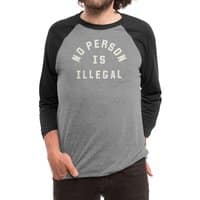 No Person Is Illegal - triblend-34-sleeve-raglan-tee - small view