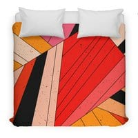 Geometric composition - duvet-cover - small view