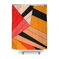 Geometric composition - shower-curtain - small view