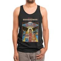 Alien Abduction Club (Black Variant) - mens-triblend-tank - small view