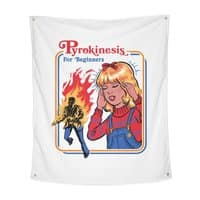 Pyrokinesis for Beginners (White Variant) - indoor-wall-tapestry-vertical - small view