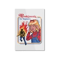 Pyrokinesis for Beginners (White Variant) - vertical-mounted-aluminum-print - small view