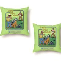 Let's Play Catch - throw-pillow - small view