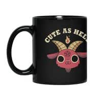 Cute As Hell - black-mug - small view