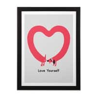 Love Yourself - black-vertical-framed-print - small view