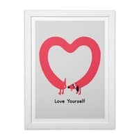 Love Yourself - white-vertical-framed-print - small view