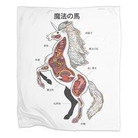 Unicorn Anatomy - blanket - small view