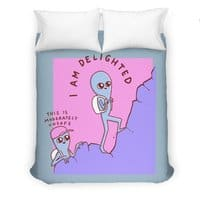 Strange Planet: Moderately Unsafe - duvet-cover - small view