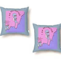 Strange Planet: Moderately Unsafe - throw-pillow - small view