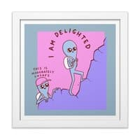 Strange Planet: Moderately Unsafe - white-square-framed-print - small view