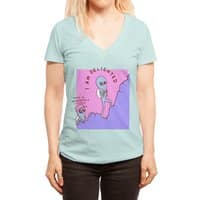 Strange Planet: Moderately Unsafe - womens-deep-v-neck - small view