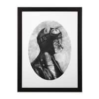 Brave - black-vertical-framed-print - small view