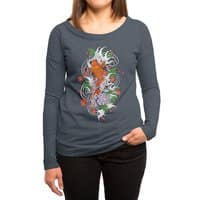 Koi Fish Pond - womens-long-sleeve-terry-scoop - small view