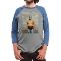 Get That Corn Outta My Face - triblend-34-sleeve-raglan-tee - small view