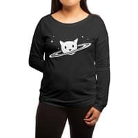 Saturn the Cat - womens-long-sleeve-terry-scoop - small view