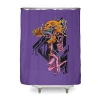 Exploded Skullborg - shower-curtain - small view