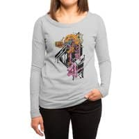 Exploded Skullborg - womens-long-sleeve-terry-scoop - small view