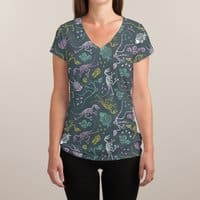 Dinosaurs - womens-sublimated-v-neck - small view