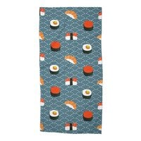Sushi Pattern - beach-towel - small view