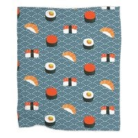 Sushi Pattern - blanket - small view