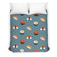 Sushi Pattern - duvet-cover - small view