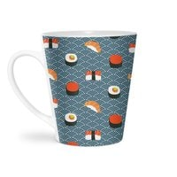 Sushi Pattern - latte-mug - small view