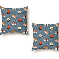 Sushi Pattern - throw-pillow - small view