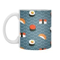 Sushi Pattern - white-mug - small view