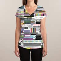 Internet killed the television star - womens-sublimated-v-neck - small view