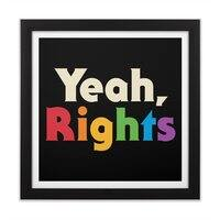 Yeah, Rights - black-square-framed-print - small view