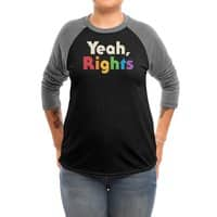Yeah, Rights - triblend-34-sleeve-raglan-tee - small view