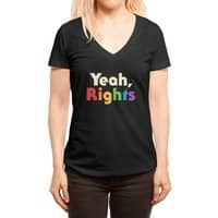 Yeah, Rights - womens-deep-v-neck - small view