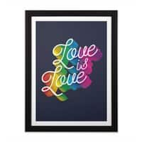 Love is Love - black-vertical-framed-print - small view