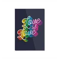 Love is Love - vertical-mounted-aluminum-print - small view